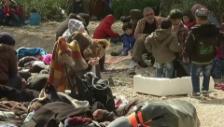 Video «Flüchtlinge in der Türkei angehalten (unkommentiert)» abspielen