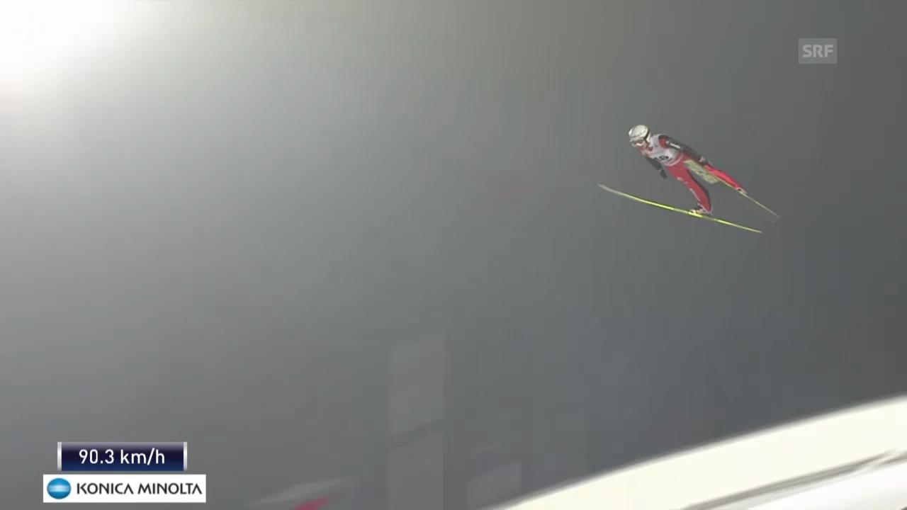 Skispringen: Weltcup in Falun, 1. Sprung Simon Ammann