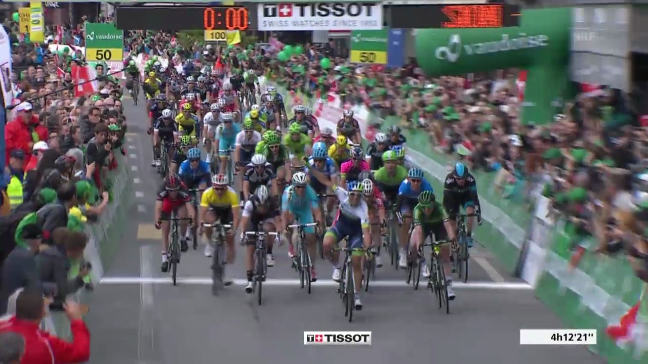 Rad: Tour de Romandie, 2.Etappe, Zielankunft