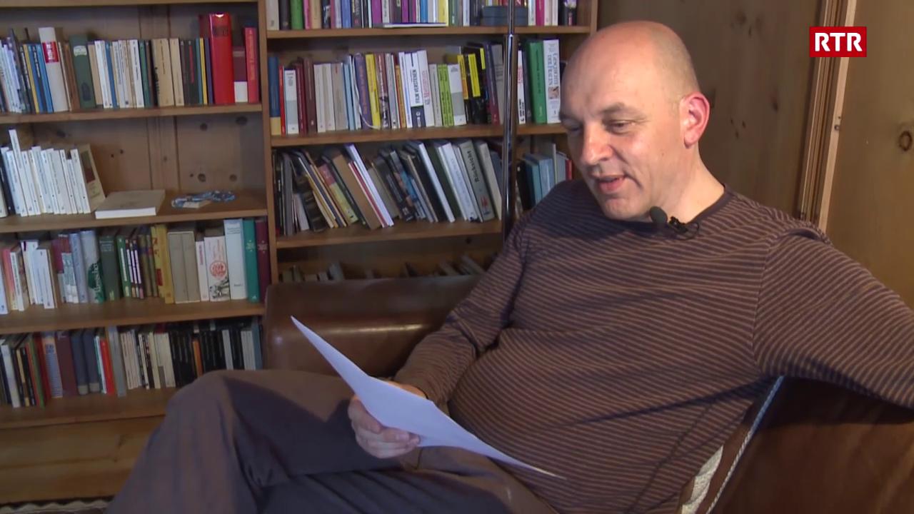 L'autur Tim Krohn scriva istorgias sin postaziun via internet
