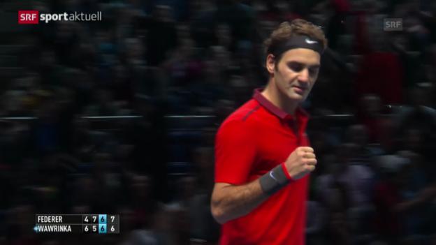 Video «Tennis: ATP Finals, Halbfinal Federer - Wawrinka» abspielen