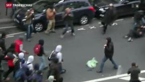 Video «Heftige Proteste wegen Roma-Ausschaffung in Paris» abspielen