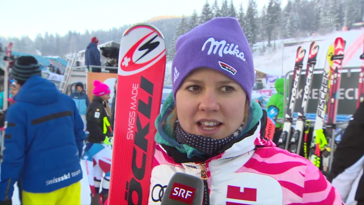 Lokalmatadorin Viktoria Rebensburg erklärt die Garmisch-Abfahrt