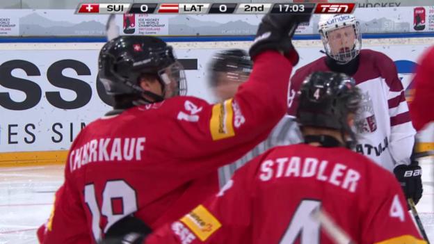 Video «Eishockey: U18-WM, Schweiz - Lettland, Zusammenfassung» abspielen