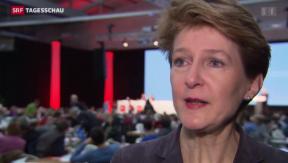 Video «Interview mit Sommaruga am Wahlparteitag» abspielen