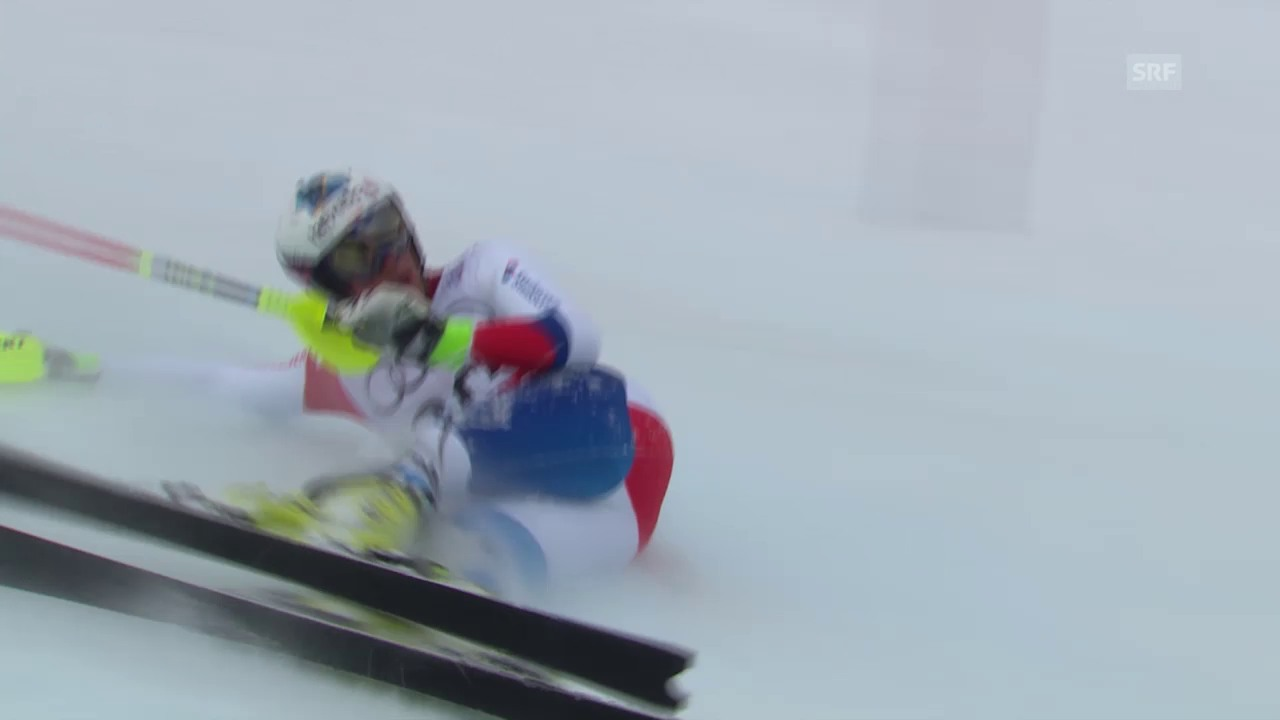 Ski: WM in Vail/Beaver Creek, Slalom Männer, Ausfall Daniel Yule