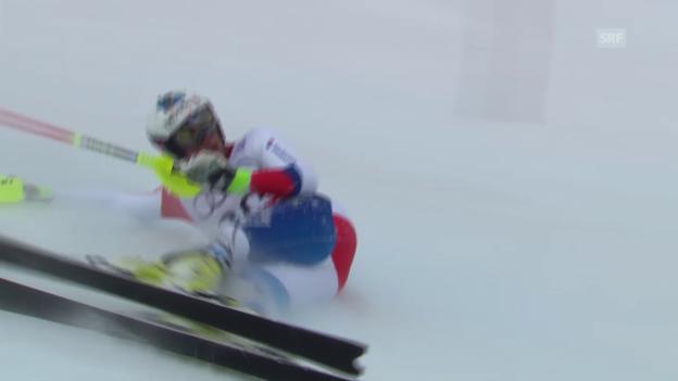 Video «Ski: WM in Vail/Beaver Creek, Slalom Männer, Ausfall Daniel Yule» abspielen