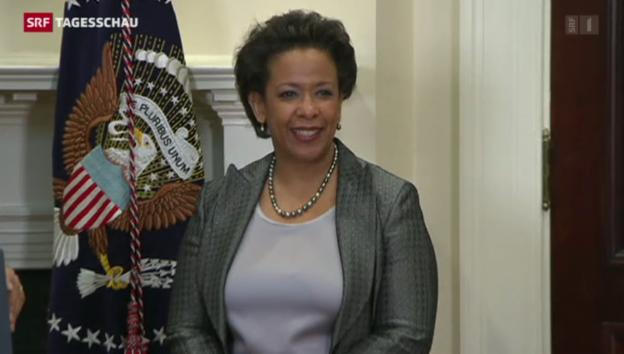 Video «Loretta Lynch als US-Justizministerin nominiert» abspielen