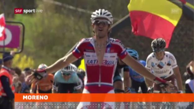 Video «Moreno gewinnt Flèche Wallonne» abspielen
