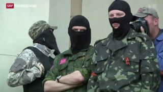 Video «Angespannte Lage auch in Donezk» abspielen