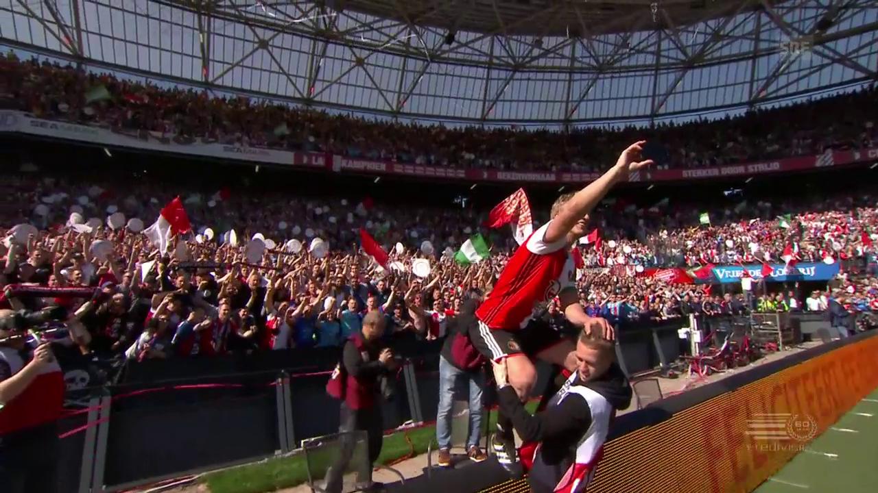 Kuyt feiert mit Feyenoord den Titel