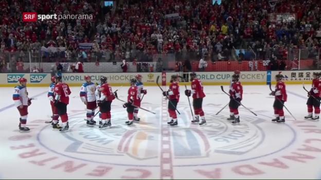 Video «Favorit Kanada zieht in den World-Cup-Final ein» abspielen