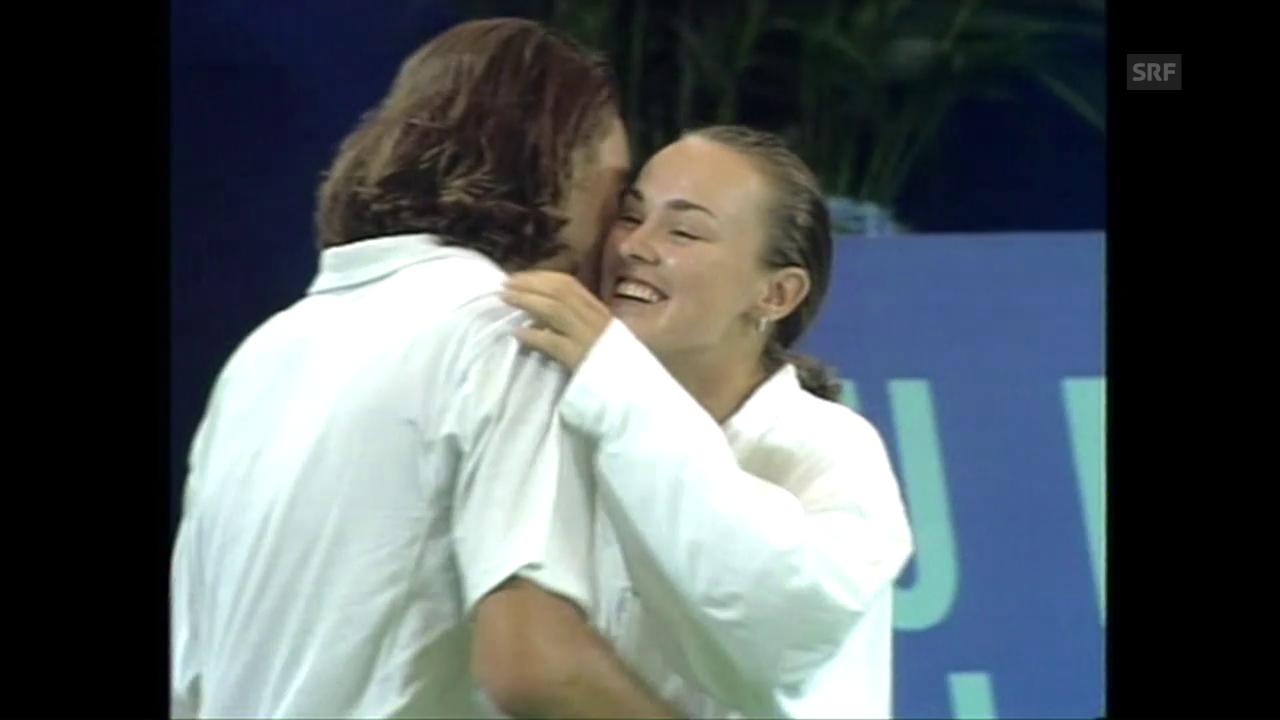 Hingis und Federer: Hopman-Cup-Traumpaar vor 16 Jahren