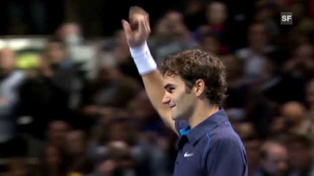 Video «Highlights Federer - Tsonga («sportlive»)» abspielen