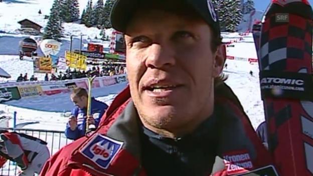 Video «Ski: Weltcup Adelboden, Herrmann Maiers Comeback 2003» abspielen
