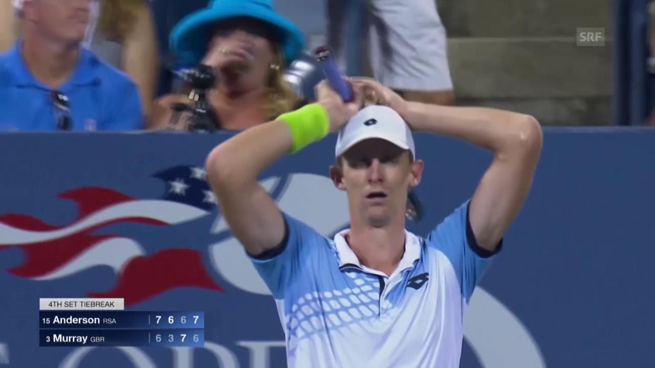 Tennis: Anderson ringt Murray nieder