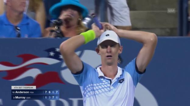 Video «Tennis: Anderson ringt Murray nieder» abspielen