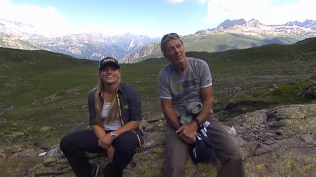 Video «Bernhard Russi zeigt Lara Gut seine Heimat» abspielen