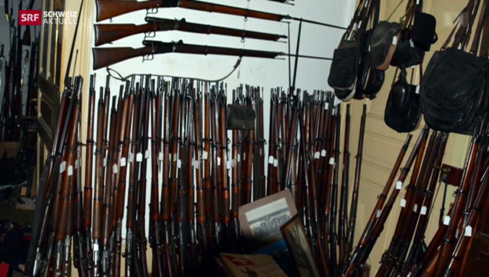 Über 2400 Waffen sichergestellt