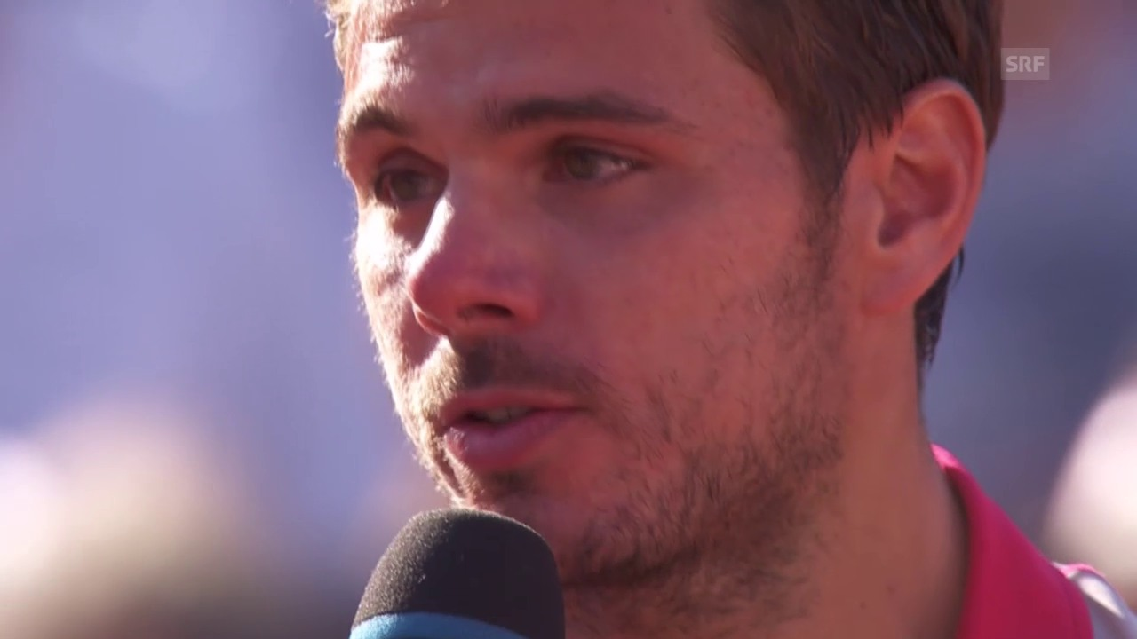 Tennis: French Open, Siegerinterview Wawrinka