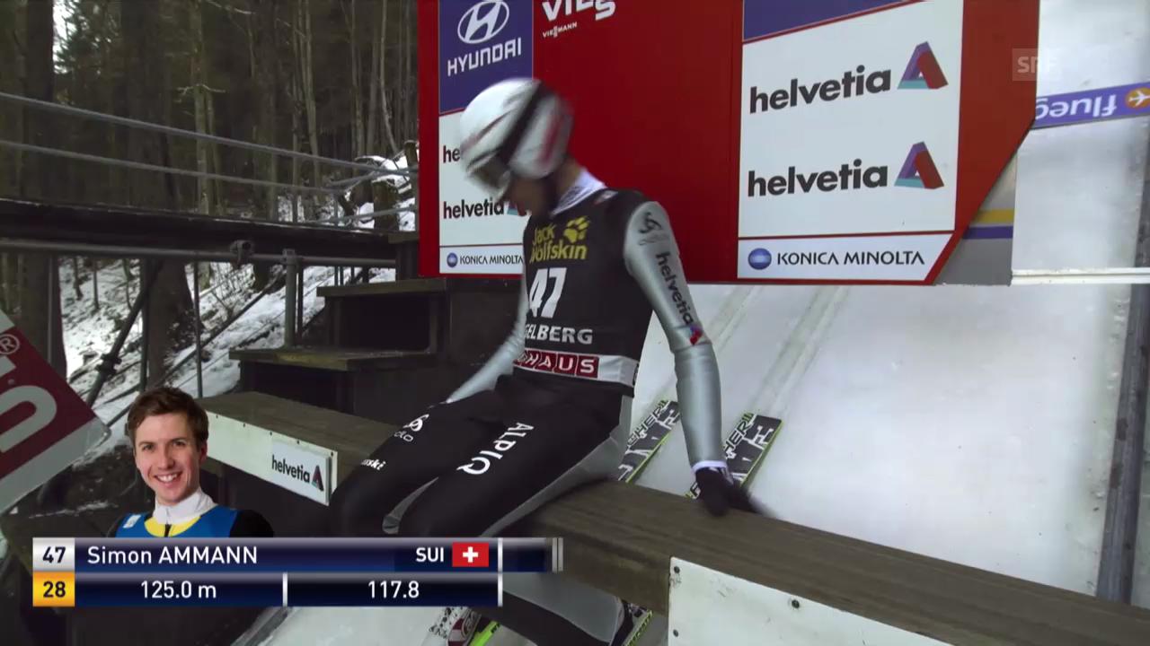 2. Sprung von Simon Ammann («sportlive», 21.12.13)