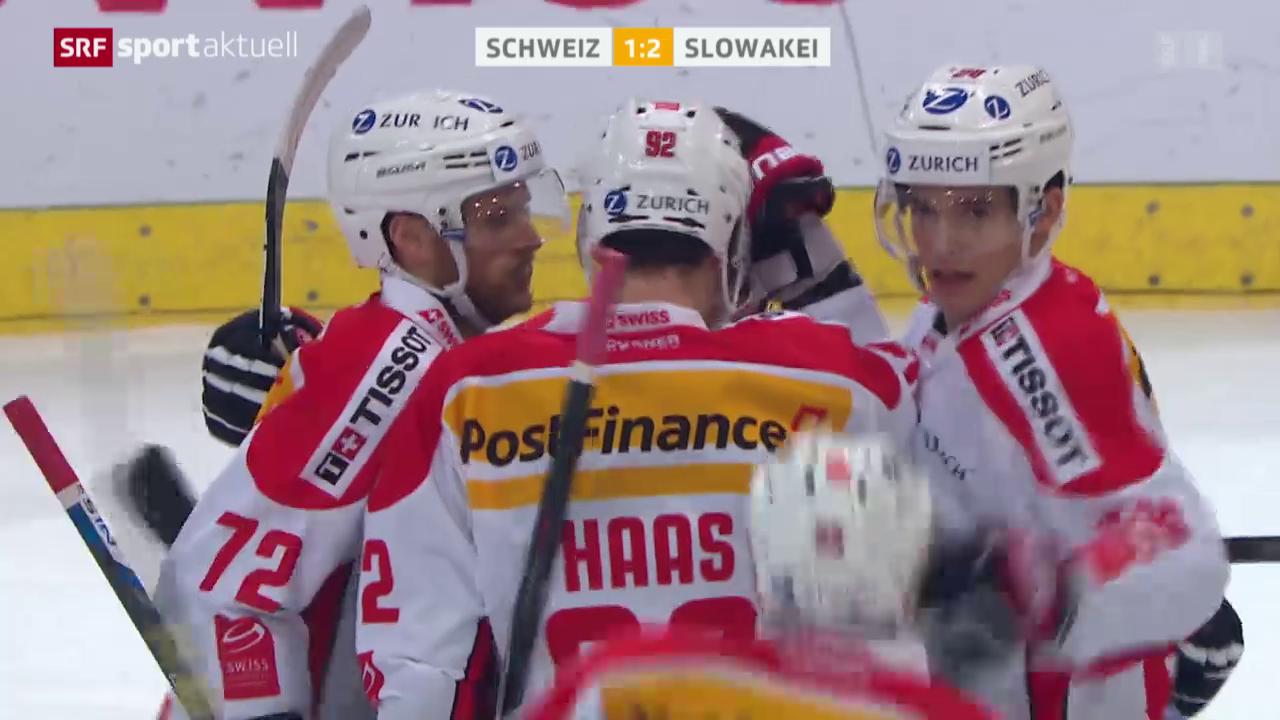 Eishockey: Arosa-Challenge-Final Schweiz - Slowakei