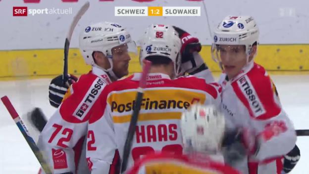 Video «Eishockey: Arosa-Challenge-Final Schweiz - Slowakei» abspielen