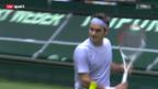 Video «ATP Halle: Federer - Haas» abspielen