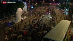 Video «Hartes Vorgehen gegen Demonstranten in Hongkong» abspielen