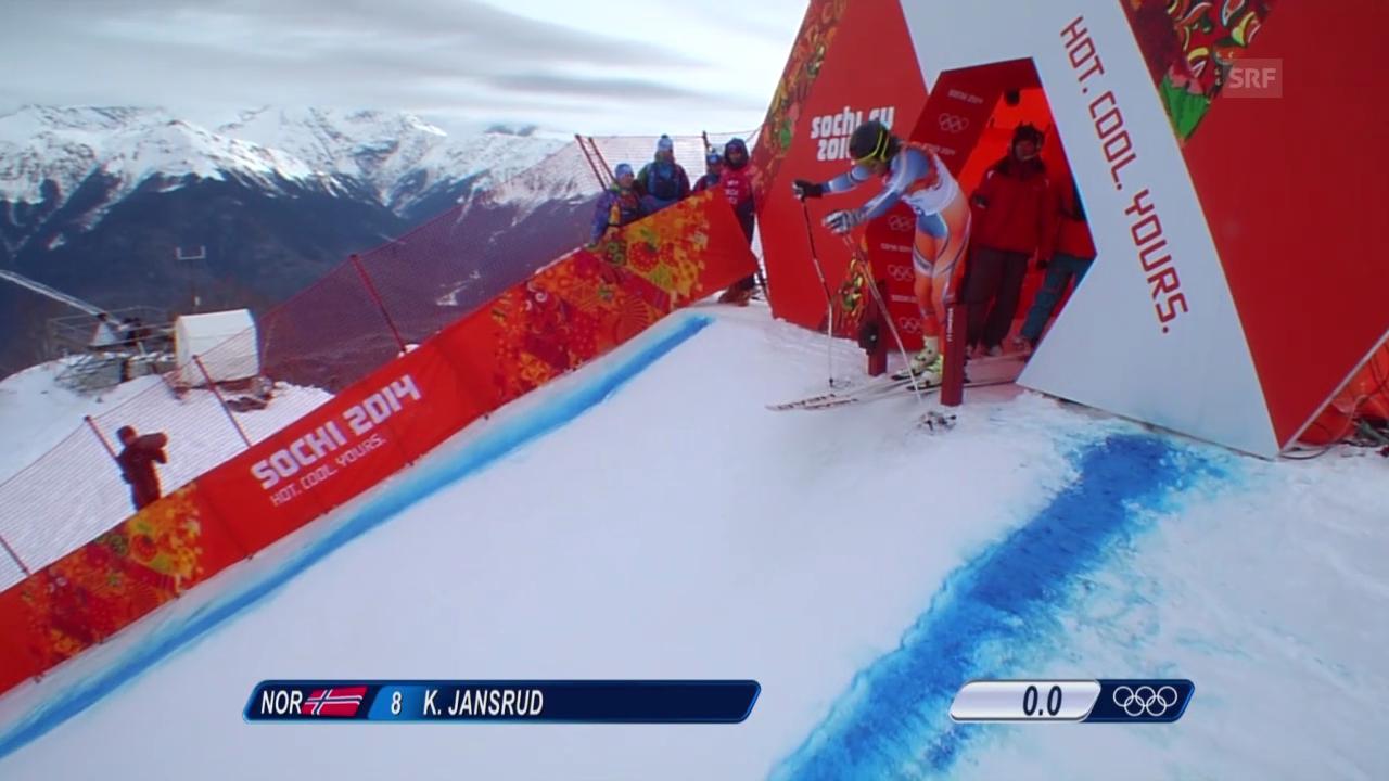 Sotschi: Ski, Abfahrt Männer, Fahrt von Jansrud