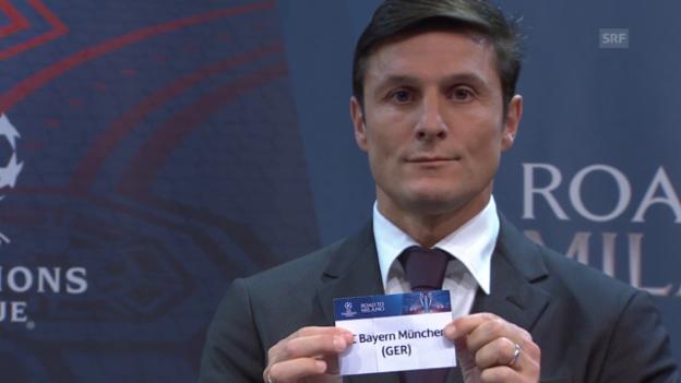 Video «Fussball: Auslosung der Champions-League-Achtelfinals» abspielen