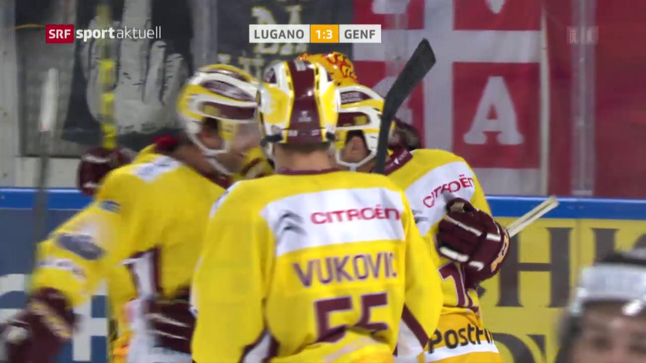 Eishockey: NLA, Lugano - Genf