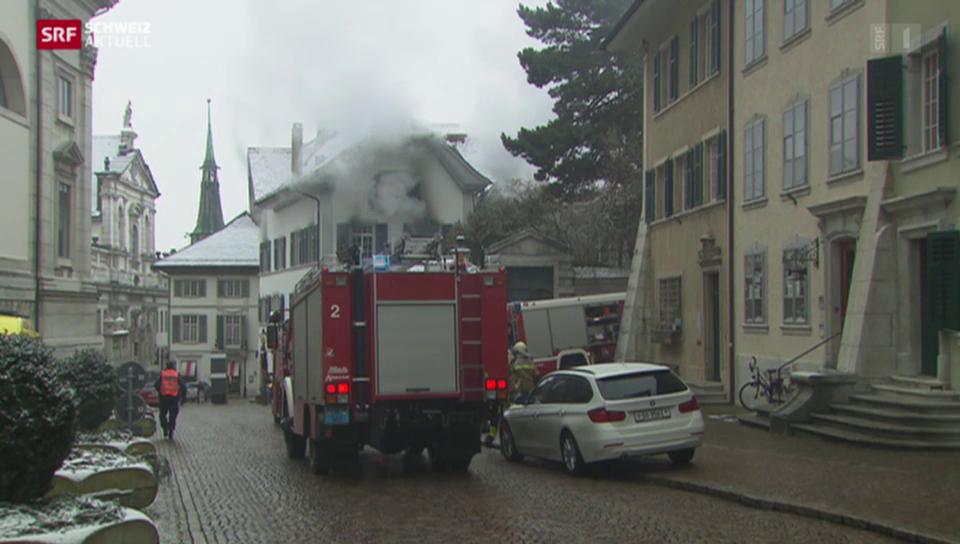 Brand in historischem Haus