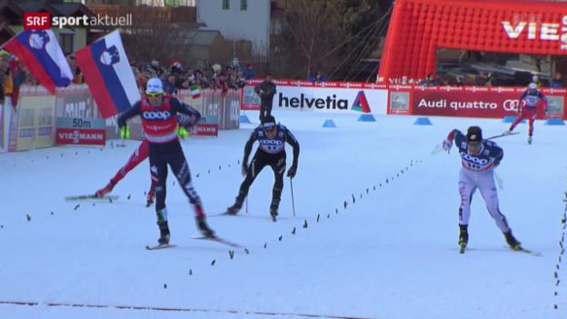 Video «Langlauf: Weltcup-Sprint in Toblach» abspielen
