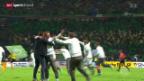 Video «Fussball: Wolfsburg triumphiert im DFB-Pokal» abspielen