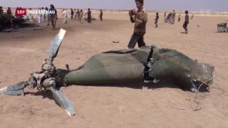Video «Russischer Helikopter bei Aleppo abgeschossen» abspielen