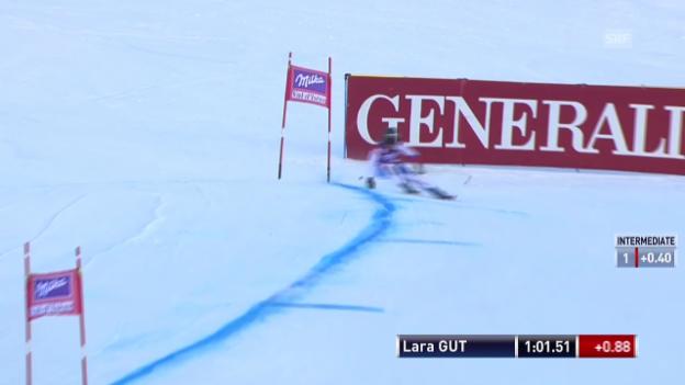 Video «Ski Alpin: Abfahrt Frauen Val d'Isère, Fahrt von Gut in Val d'Isère («sportlive», 21.12.2013)» abspielen