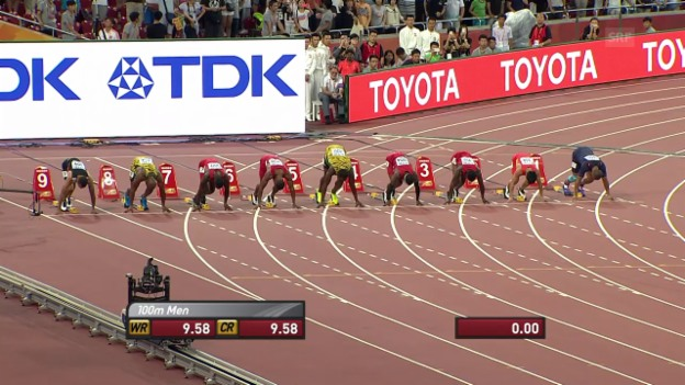 Video «Bolts WM-Gold über 100 m 2015 in Peking» abspielen