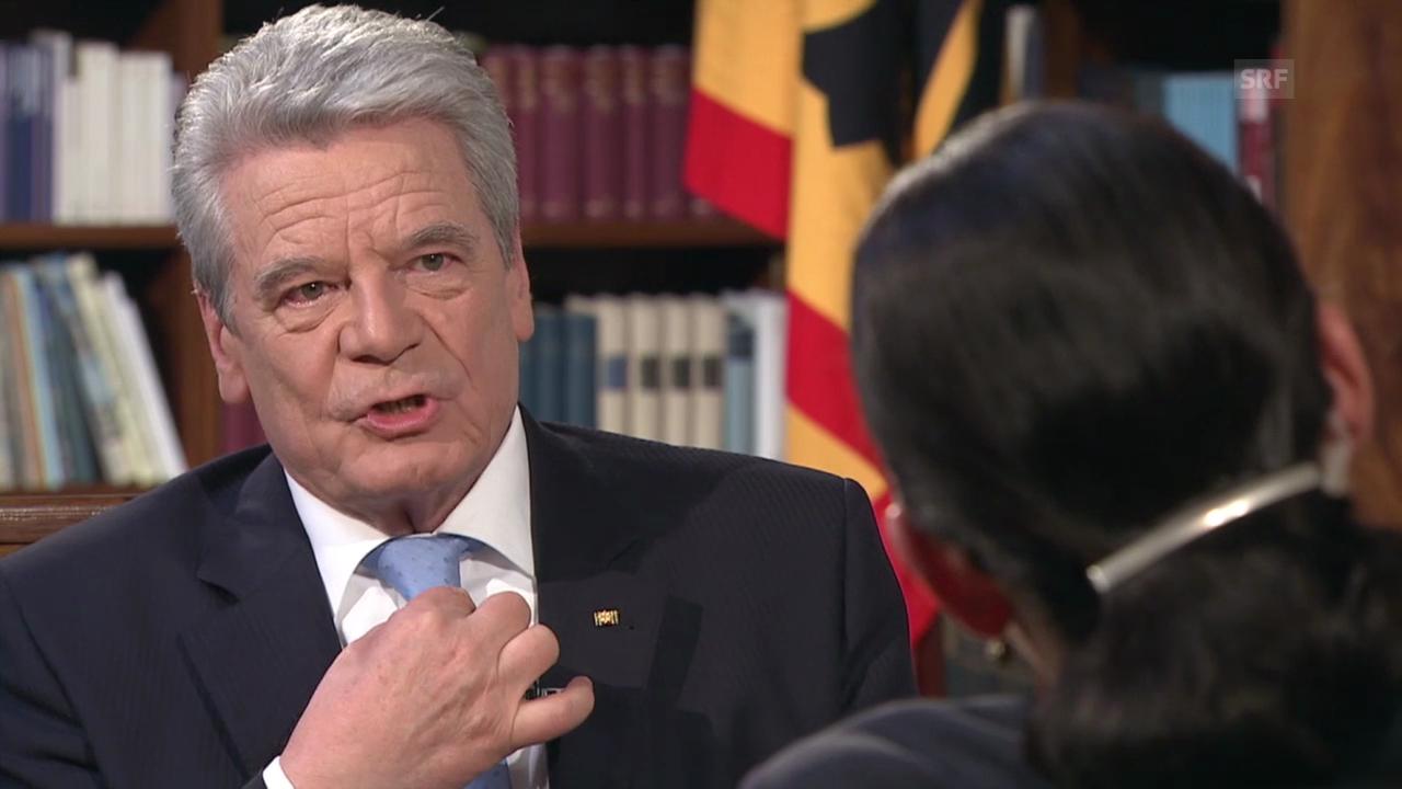 Gauck: «Wir wollen keine Erinnerung, die uns einschüchtert»