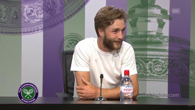 Video «Tennis: Wimbledon, PK Liam Broady» abspielen