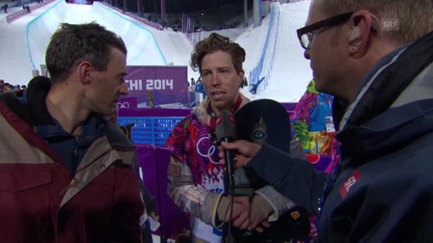 Video «Snowboard Halfpipe: Interview mit Shaun White (sotschi direkt, 11.02.2014)» abspielen