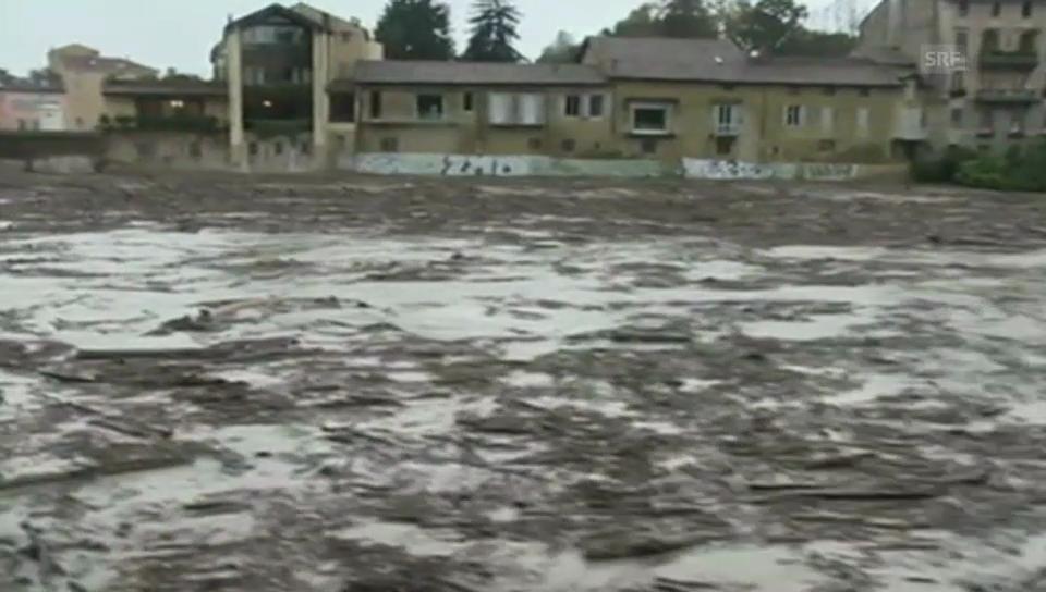 Überschwemmungen in der Region um Parma (unkommentiert)