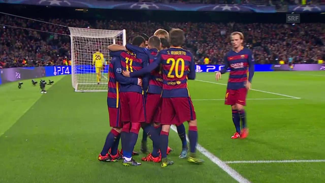 Fussball: Champions League, Barcelona - Roma, 5:0 Messi