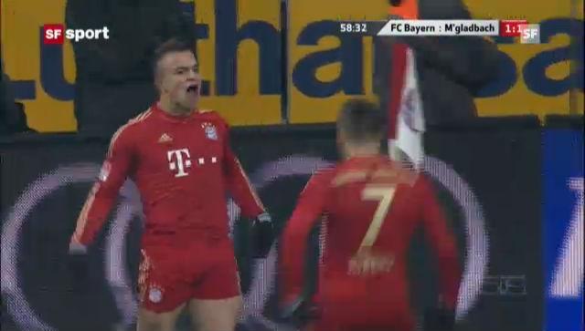 Das Tor von Shaqiri gegen Mönchengladbach