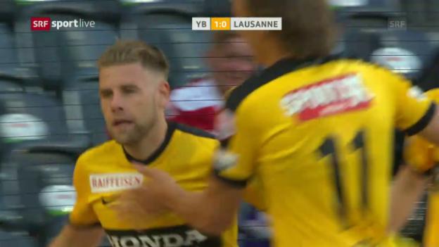 Video «Der doppelte Ravet beschert YB Sieg gegen Lausanne» abspielen