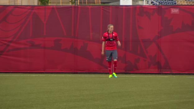 Video «Fussball: Frauen-WM, Impressionen aus dem Training» abspielen