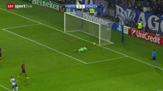 Video «Fussball: Champions League, Gruppe H, Zusammenfassung Porto - Schachtar Donezk» abspielen