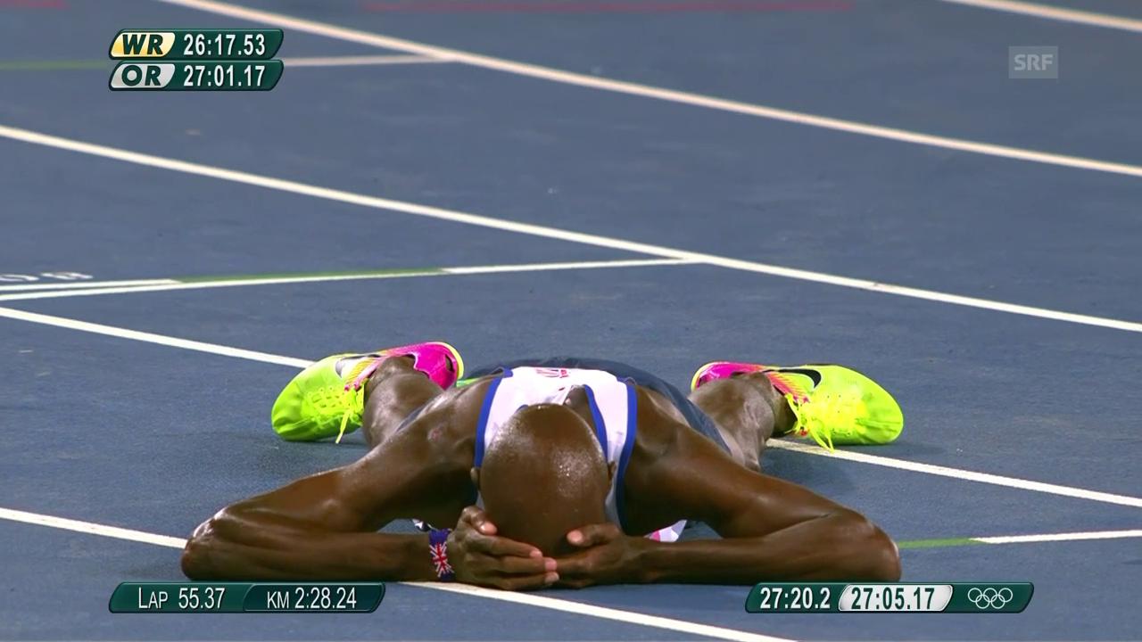 Farahs Olympia-Gold über 10'000 m 2016 in Rio