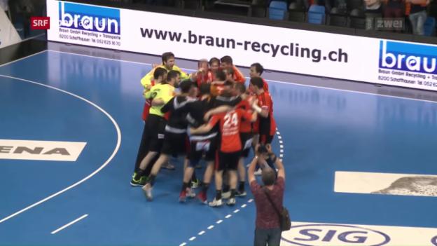 Video «Kadetten gewinnen Spiel 3 des Playoff-Finals» abspielen