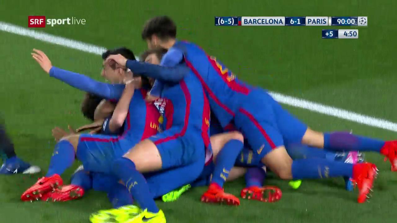 Die Livehighlights bei Barcelona - PSG